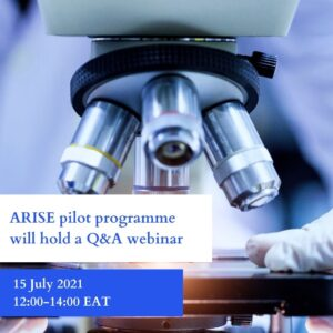 Invitation to the African Research Initiative for Scientific Excellence (ARISE)