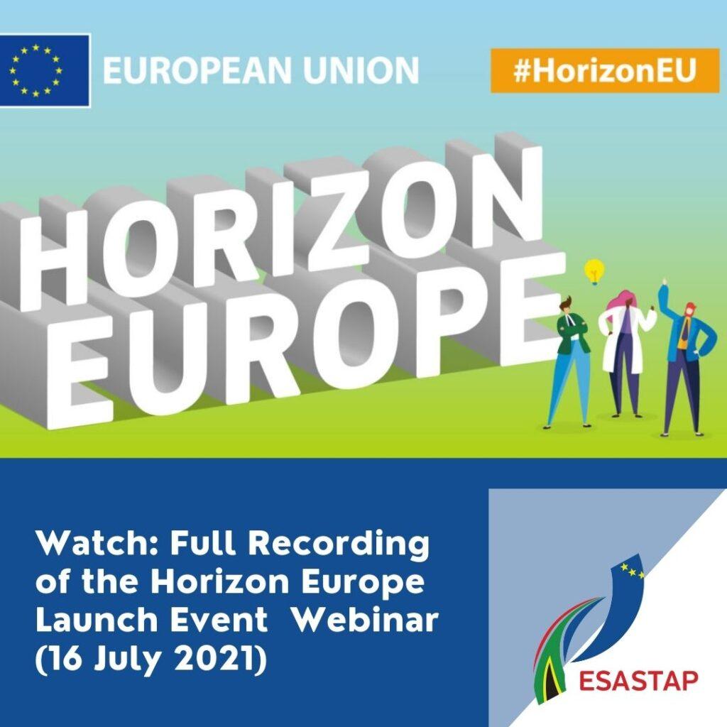 ESASTAP Horizon Europe Webinar Recording