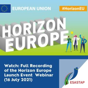 Watch: Full Recording of the Horizon Europe Launch Event  Webinar (16 July 2021)