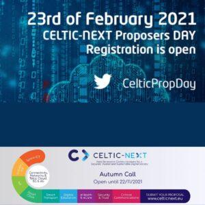 Event: CELTIC Online Proposers Day, <br>23rd September 2021
